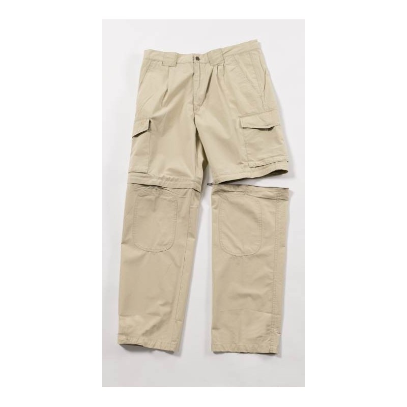 Pantalon convertible safari zippé beige