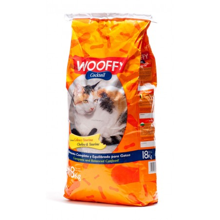Wooffy Chat adulte Cocktail* au poulet et au poissons - 18kg