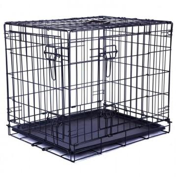 Cage métallique pour chien 2 portes noire