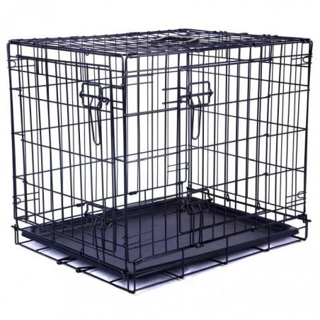 Cage métallique 2 portes, noire