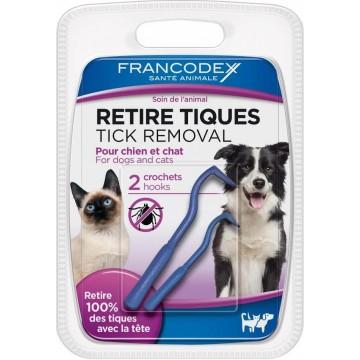 Retire tiques pour chiens et chats - par 2