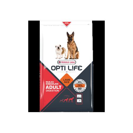Opti Life Adult Digestion Medium/Maxi (Lamb & Riz)