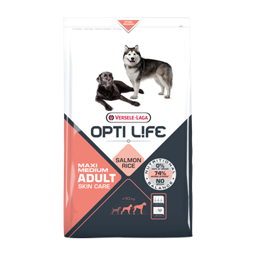 Opti Life Adult Skin care Medium/Maxi (Saumon & Riz)