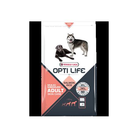 Opti Life Adult Skin care Medium/Maxi (Saumon & Riz)