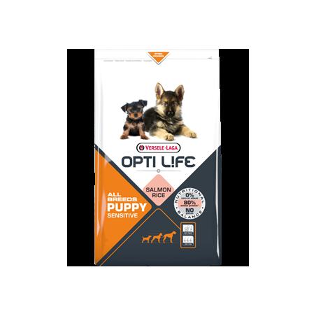 Opti Life Puppy Sensitive All breeds (Saumon & Riz)