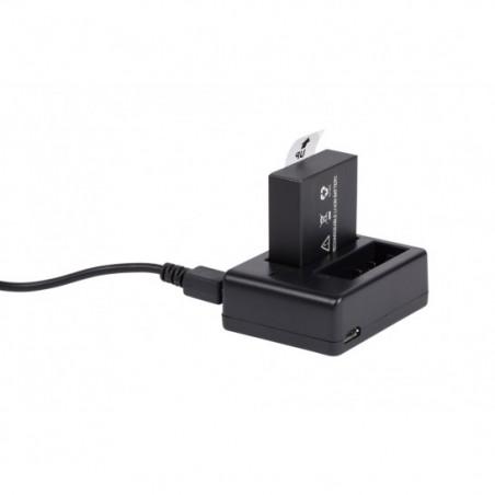 Chargeur double avec batterie supplémentaire