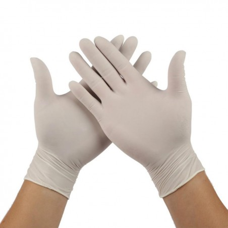 Gants de protection en latex non poudrés - Boite de 100 gants