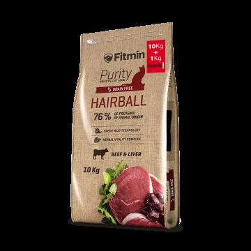 Fitmin Cat Purity hairball - Boeuf et foie