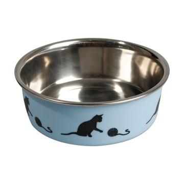 mangeoire chat bella kena bleue 11cm-160ml