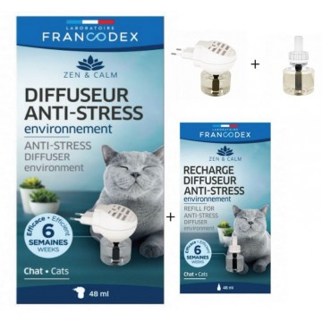 Pack diffuseur + recharge Anti stress pour chat