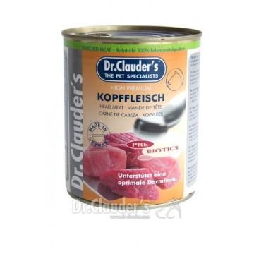 Boite Selected meat Dr Clauder's avec de la viande de tête